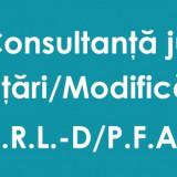 Infiintari / Modificari / Radieri firme Bucuresti-Ilfov