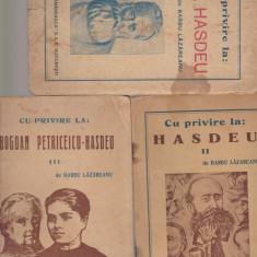 Cu privire la Hasdeu Lazareanu 3 volume - Studiu literar
