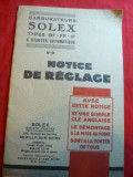 Carburatoare Solex cu starter automatizat- Reglaj , montare-1936- lb.franceza
