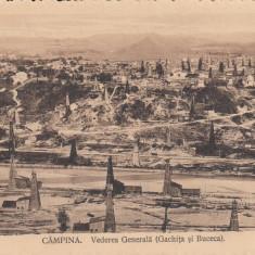 CAMPINA, VEDERE GENERALA ( GACHITA SI BUCECA)CIRCULATA - Carte Postala Muntenia dupa 1918, Printata