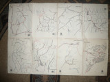 Harti Turistice- ONT : Delta Dunarii , Borsa , Muntii Calimani ,Vrancei...1960