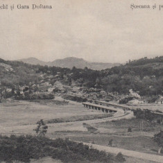 CAMPINA SALINELE VECHI SI GARA DOFTANA SOSEAUA SI PODUL NOU CIRC. IUN.''07 - Carte Postala Muntenia 1904-1918, Circulata, Printata