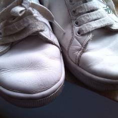 Adidasi piele albi marime 40 - Adidasi dama