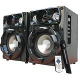 SISTEM KARAOKE 2 BOXE ACTIVE INTEX BASS BOOST,MICROFON WIRELESS ,TELECOMANDA,MP3