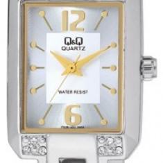 Ceas Q&Q de dama cod F339-401Y - pret 129 lei (NOU; ORIGINAL) - Ceas dama Q&Q, Casual, Quartz, Analog, Diametru carcasa: 32
