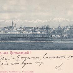 SALUTARI DIN SIBIU, VEDERE GENERALA, CIRCULATA APR.1898 ED. G.A. SERAPHIN - Carte Postala Transilvania pana la 1904, Printata