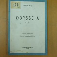 Homer Odiseea 12 canturi Bucuresti 1944 traducere limba elina Cezar Papacostea - Carte veche