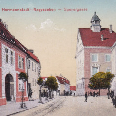 SIBIU, STRADA PINTENULUI - Carte Postala Transilvania 1904-1918, Necirculata, Printata