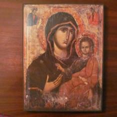 CY - Icoana folie lipita pe lemn Fecioara Maria cu Domnul Iisus (3)
