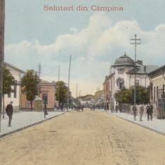SALUTARI DIN CAMPINA, REGIA MONOPOLULUI DE STAT, TUTUN, TIMBRE, MARCI POSTALE - Carte Postala Muntenia 1904-1918, Necirculata, Printata