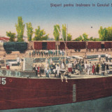 GIURGIU, SLEPURI PENTRU INCARCARE IN CANALUL SF. GHEORGHE - Carte Postala Muntenia dupa 1918, Necirculata, Printata