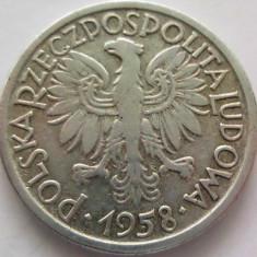 Moneda 2 Zloti - POLONIA, anul 1958 *cod 455 Allu, Europa, Aluminiu
