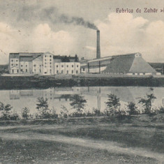 GIURGIU, FABRICA DE ZAHAR DANUBIANA, CIRCULATA *927 - Carte Postala Muntenia dupa 1918, Printata