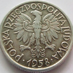 Moneda 2 Zloti - POLONIA, anul 1958 aluminiu *cod 90 Allu*, Europa