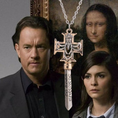Pandantiv/colier/ Lantisor film Codul Lui Da Vinci The Key of the bank