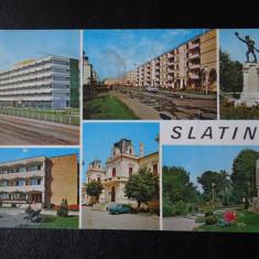 SEPT15- Vedere/Carte postala - Slatina - Carte Postala Banat dupa 1918, Circulata, Printata