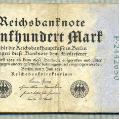 A 13 BANCNOTA-GERMANIA - 500 MARK- anul 1923 -SERIA 2442650 -starea care se vede