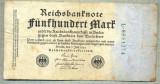 A 52 BANCNOTA-GERMANIA - 500 MARK- anul 1923 -SERIA 8951274 -starea care se vede
