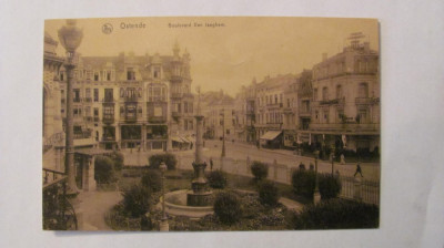 "CY - Ilustrata OSTENDE ""Bulevardul Van Iseghem"" necirculata Belgia foto"