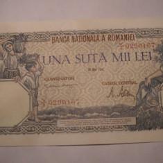 100000 lei 1946 Mai UNC - Bancnota romaneasca