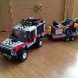 LEGO, Masina cu remorca moto-cross