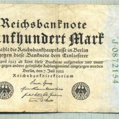 A 23 BANCNOTA-GERMANIA - 500 MARK- anul 1923 -SERIA 0872154 -starea care se vede