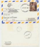 SUA Carte postala statie NASA telecomunicatii cu autografe spre Romania 1998