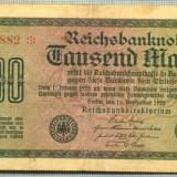 A 68 BANCNOTA-GERMANIA - 1000 MARK- anul 1922 -SERIA 346882 -starea care se vede