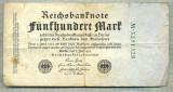 A 74 BANCNOTA-GERMANIA- 500 MARK- anul 1923 -SERIA 3251328 -starea care se vede