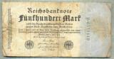 A 73 BANCNOTA-GERMANIA- 500 MARK- anul 1923 -SERIA 6375449 -starea care se vede