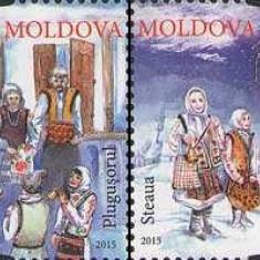 MOLDOVA 2015, Datini si obiceiuri de iarna, serie neuzată, MNH, Nestampilat