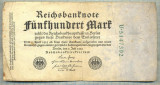 A 98 BANCNOTA-GERMANIA- 500 MARK- anul 1923 -SERIA 5147392 -starea care se vede