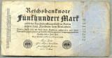 A 53 BANCNOTA-GERMANIA - 500 MARK- anul 1923 -SERIA 1137252 -starea care se vede