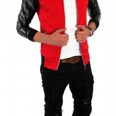 Geaca tip ZARA primavara rosie - vara - geaca slim fit - geaca fashion - 6293 - Geaca barbati, Marime: L, XL, Culoare: Din imagine
