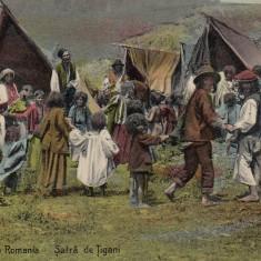 SALUTARI DIN ROMANIA, SATRA DE TIGANI - Carte postala tematica, Necirculata, Printata