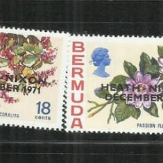 A  34  - FLORI    -   BERMUDA   -   SERIE   NESTAMPILATA