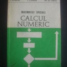 C. M. BUCUR - MATEMATICA SPECIALE, CALCULUL NUMERIC