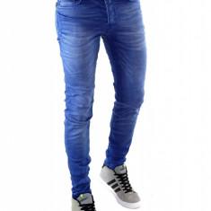 Blug tip ZARA MAN albastri - blugi barbati - blugi conici - cod: 6272, Marime: 29, Culoare: Din imagine
