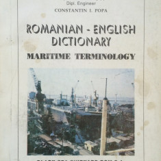 ROMANIAN-ENGLISH DICTIONARY MARITIME TERMINOLOGY -Constantin I. Popa
