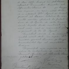 I. C . BRATIANU, MIHAIL KOGALNICEANU, ION CAMPINEANU... CONSILIUL MINISTRILOR, 1877