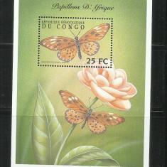 FL  10   - FLUTURI     -  CONGO   -  COLITA   NESTAMPILATA
