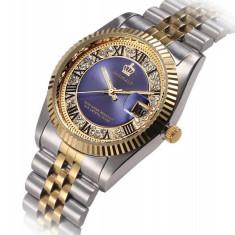 CEAS REGINALD IMPERIAL GOLD&DIAMONDS-SUPERB-COLECTIE NOUA-FOARTE ELEGANT !!! - Ceas barbatesc, Quartz, Inox, Data