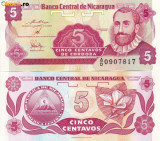 NICARAGUA, 5 CENTAVOS 1991, UNC
