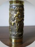 Vaza din obuz / proiectil de tun  1915 STARE PERFECTA ! ! Piesa   de colectie  !