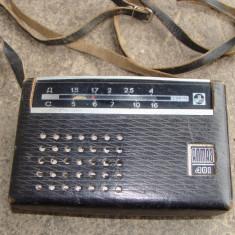 Aparat de radio portabil in husa de piele - Aparat radio