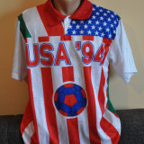Tricou de colectie Campionatul Mondial de Fotbal 1994. RAR! CM '94., XL, Alb