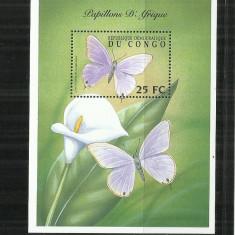 FL  14   - FLUTURI     -  CONGO  -  COLITA     NESTAMPILATA