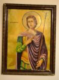 Icoana veche pictata - Sfantul Dumitru - 1940 / Icoana pictata Sf. Dumitru