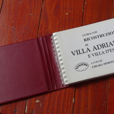 Carte Limba Italiana cu imagini color Villa Adriana anul 1995 / 78 pagini !