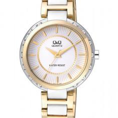 Ceas Q&Q dama cod F531J401Y - pret 159 lei (NOU; ORIGINAL) - Ceas dama Q&Q, Elegant, Quartz, Analog, Diametru carcasa: 37